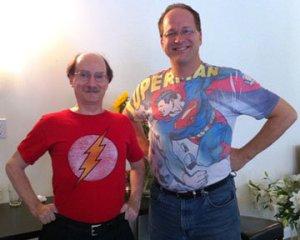 Burner Dr Dean Radin from IONS (left)