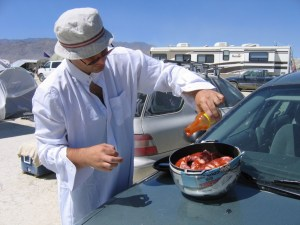 car cooking