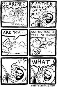 angel of deaf cartoon
