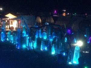 Light sculptures at Psyclone