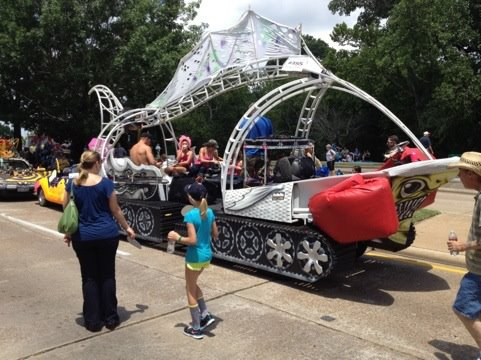Fighting Fight Tank in the Houston Art Car Parade