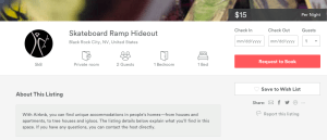 Search AirBnB for Burning Man, this ad is still displayed
