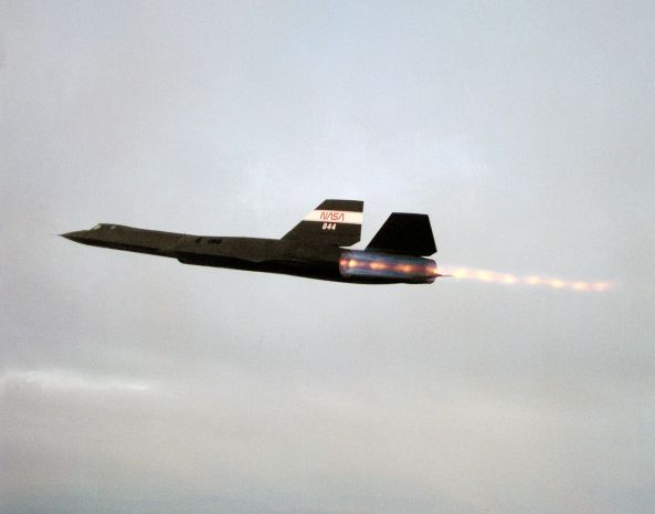 SR-71 Blackbird using Afterburner. Image: Wikimedia Commons