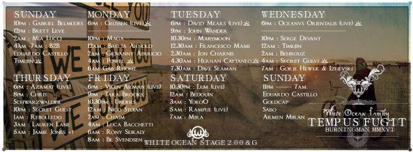 2016 white ocean lineup