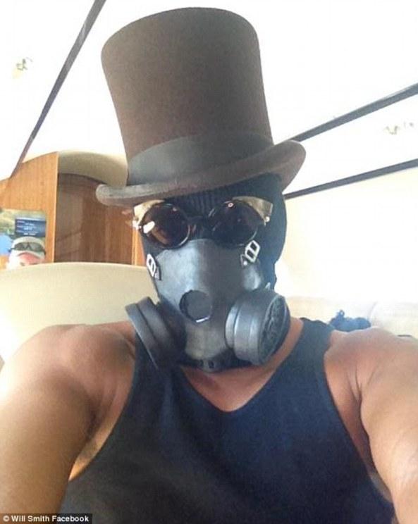will smith burning man mask