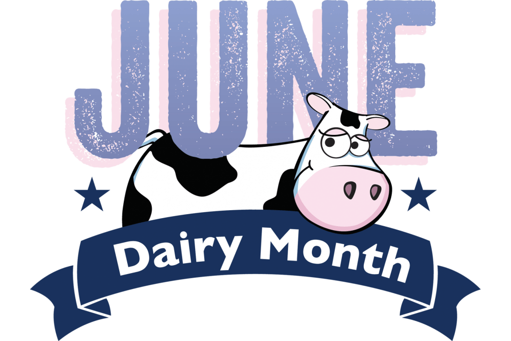 June Dairy Month logo with cow