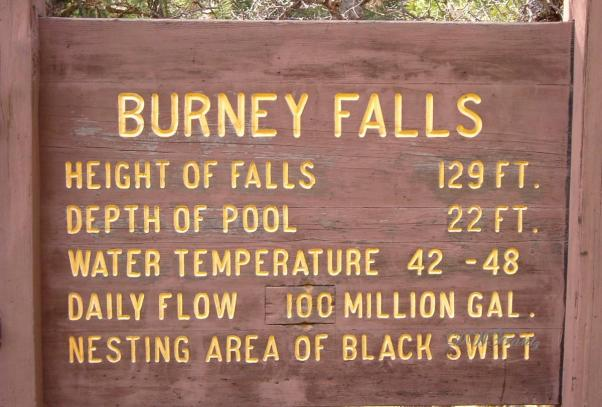 Burney Falls Sign