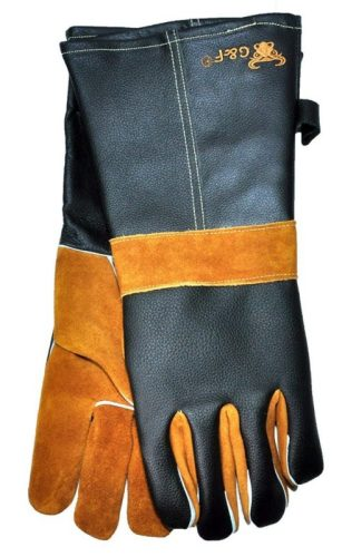 Keep your hands safe and do more with these leather G&F barbecue gloves. Read more in our must-have barbecue accessories article...