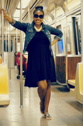Tamika B. got dressed on the subway this morning