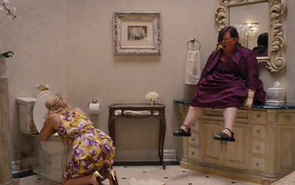 Let's all take the time to remember this very similar scenario from Bridesmaids.