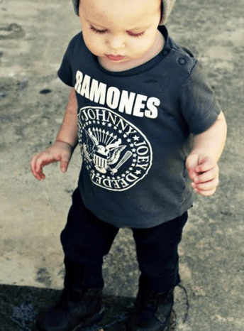 Your child could be the proud new owner of this old Ramones shirt
