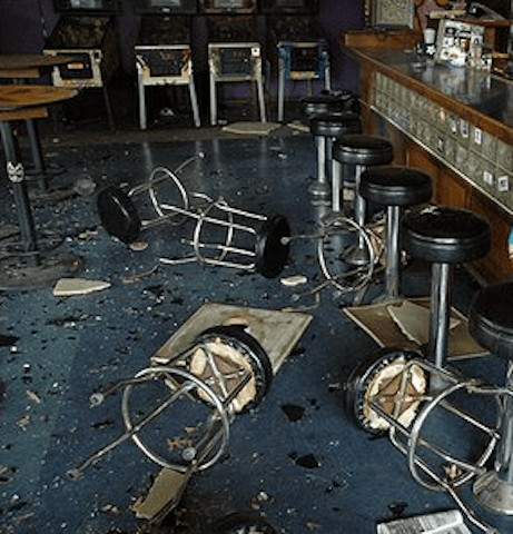 Patrons flew into a rage after learning that the patio was closed