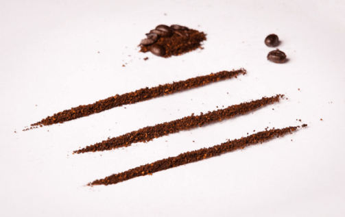 Coffee's not so different from cocaine according to local coffee shop owner, Sven Drugaddikt