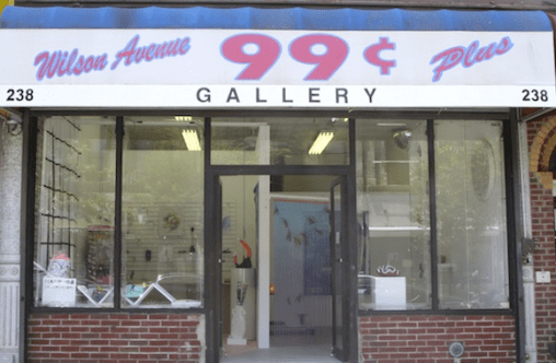 Exterior of art gallery located at 238 Wilson Avenue