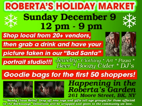 Vintage ad for Roberta's Holiday Market