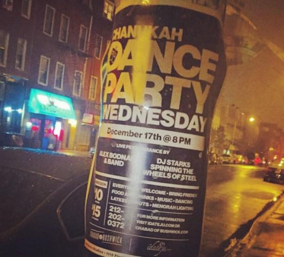 Flier for Chanukah Dance Party