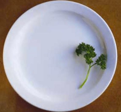 Main course of air served with a side of parsley