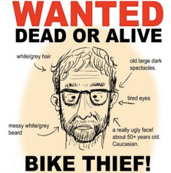 The thief was immediately targeted via wanted signs throughout the neighborhood