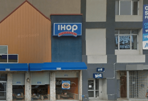 The IHOP is conveniently located next to the unopened Crunch