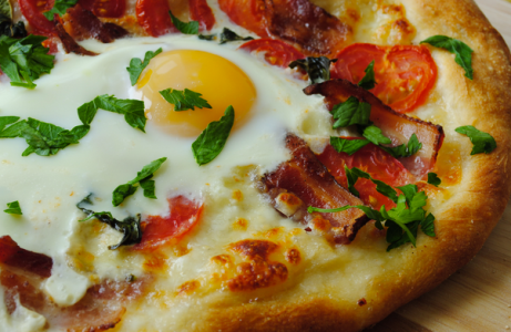 So far, egg-topped pizzas have been the talk of the brunch menu