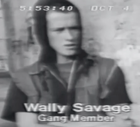 Wally Savage, a 70s gang member, doesn't look so different from today's denizens