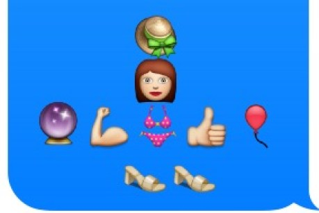 """Day at the Beach"" emoji art"