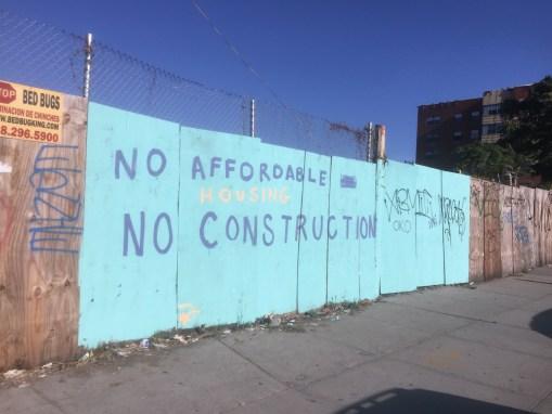 No affordable housing, no construction