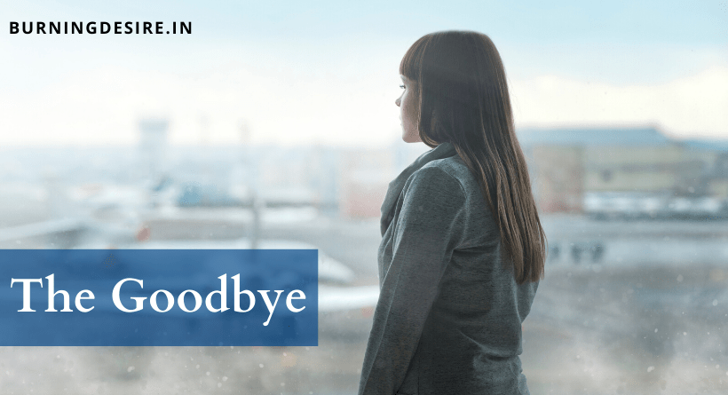 The Goodbye poem by Robert A Cozzi