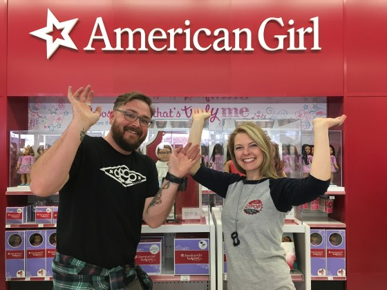 Incidentally, we DID buy all the American Girl dolls. Luc was so excited he didn't know what to do with his hands.