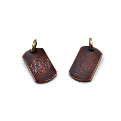 Burnley Rose Dog Tag