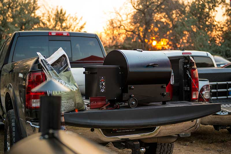 Traeger Tailgater on a Tailgate