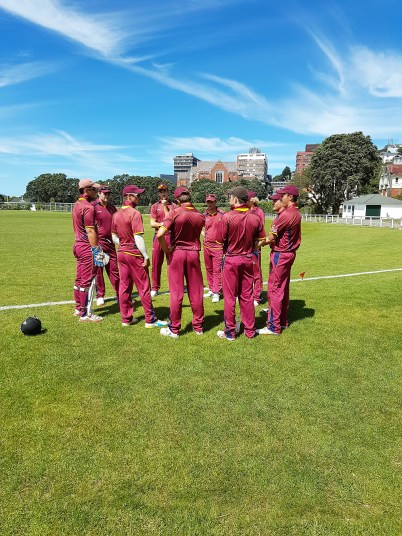 Team Meeting, Match played in Wellington vs VUWCC