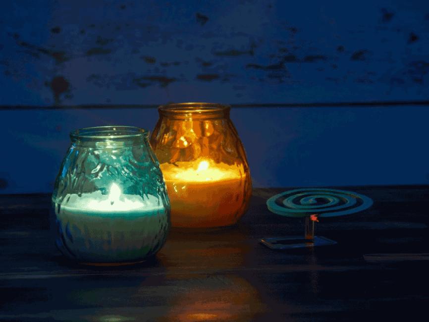 Citronella candles.