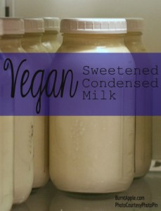 vegan sweetened condensed milk