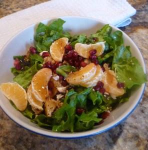 pomegranate orange walnut salad