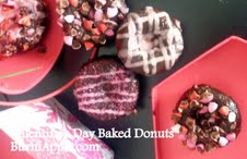 Valentine's Day Baked Double Chocolate Donuts