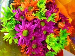 neon flower bouquet