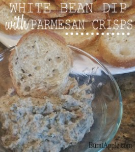 White Bean Dip with Parmesan Crisps