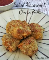 baked macaroni and cheese balls