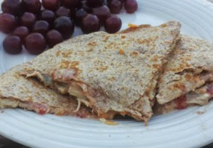 Healthy Crockpot Chicken Quesadillas