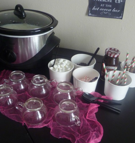 crockpot hot cocoa bar