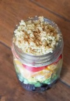 quinoa breakfast rainbow in a jar