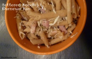 Buttered Noodles with Parmesan Ham Skillet Dinner