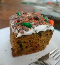 pumpkin spice M&M cake