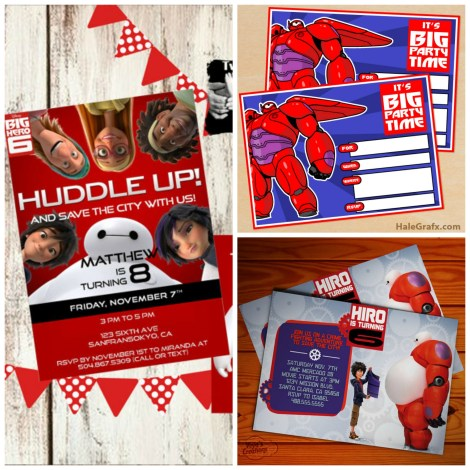 big hero 6 birthday party invitations