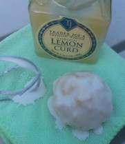 Lemon Curd Snowball Cookies