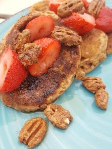 Candied Pecan Pancakes