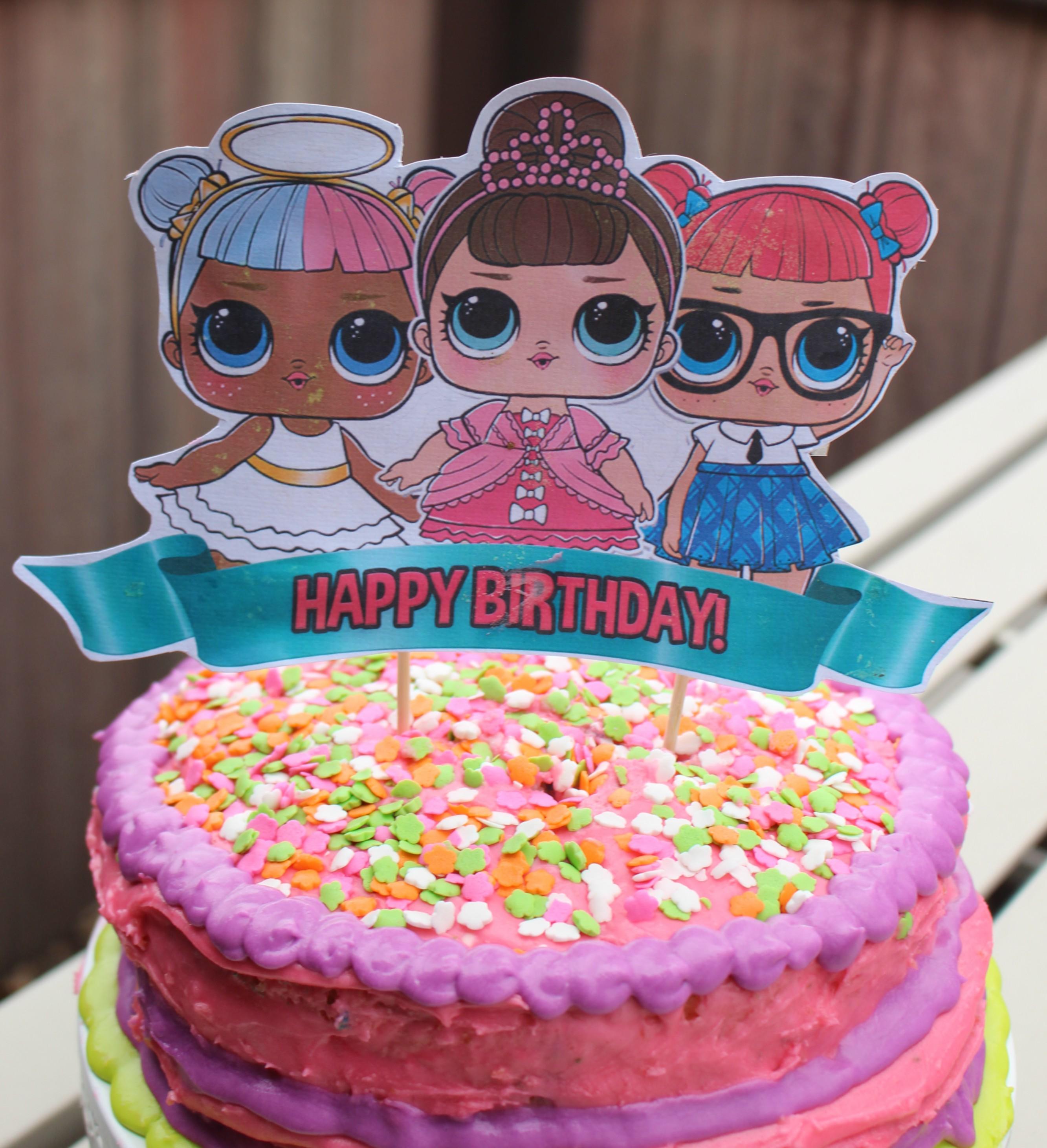 Enjoyable Easy Lol Surprise Doll Birthday Cake Superbowl Recap Burnt Apple Birthday Cards Printable Riciscafe Filternl