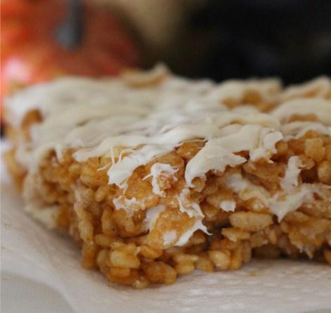 white chocolate pumpkin rice krispies