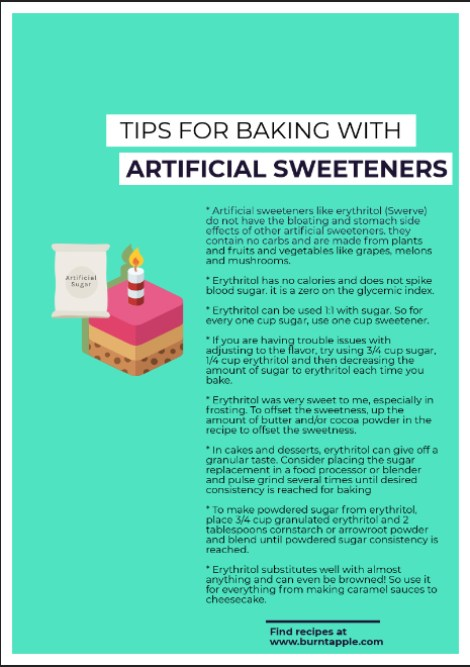 baking with erythritol